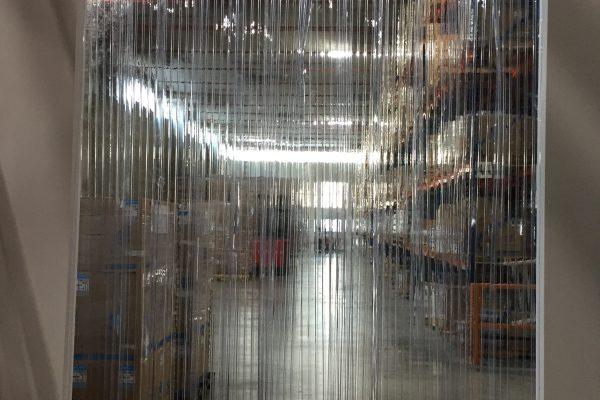 PVC Strip Curtains Installation