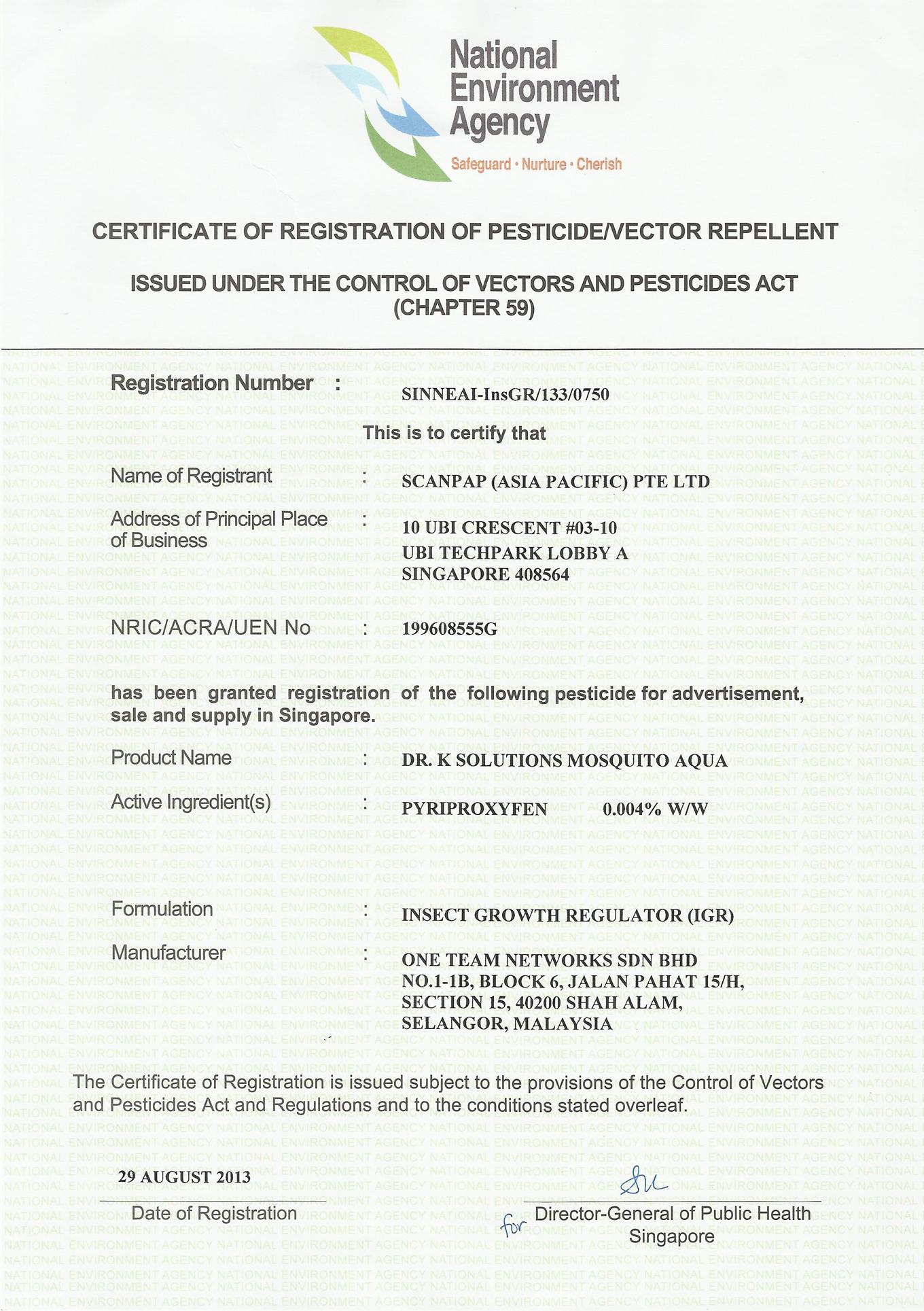 NEA Certificate